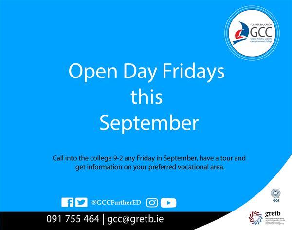 Open Day Fridays this September